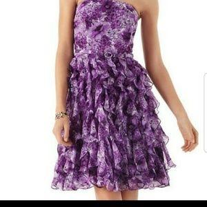 White House Black Market Floral Strapless Dress
